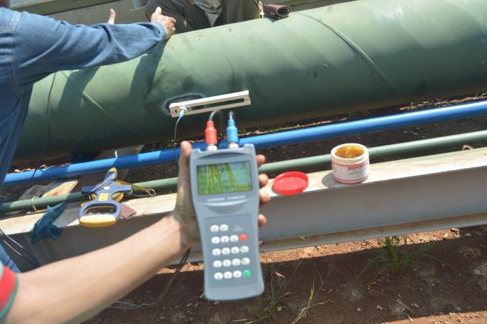 Pengunaan flow meter portable