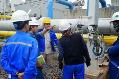 Instalasi Flow Meter Ultrasonic di Power Plant KDL Cilegon