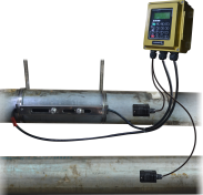 Clamp on flow meter