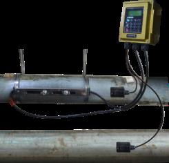 Flowmasonic clamp on flow meter